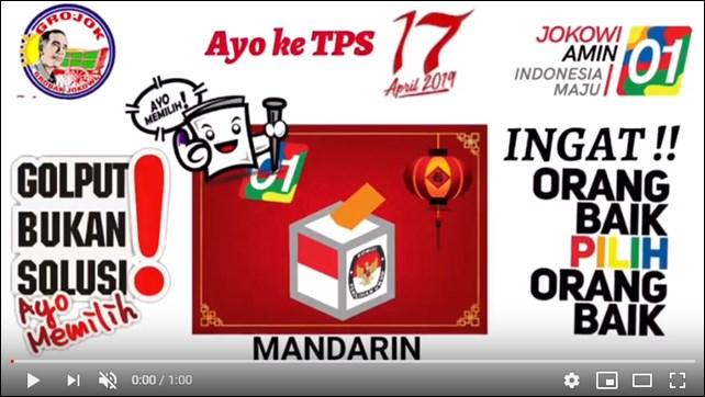 Beredar Video Arahan Pilih Jokowi Berbahasa Cina