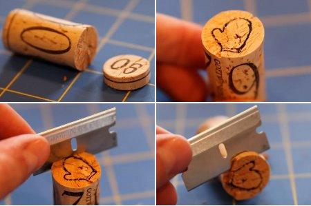 hacer sellos en corchos
