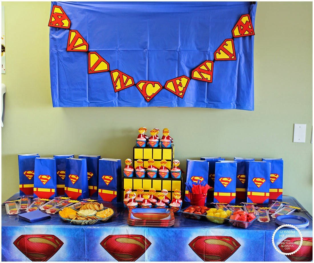 Superman Room Ideas Jamiek711 Designs Superman Birthday Party