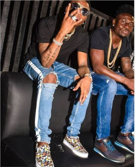 Wizkid And Obafemi Martins Party Together In Lagos