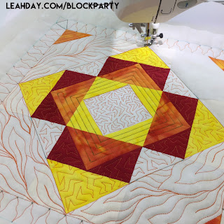 How to Quilt a Glitter Star Block Quilting Tutorial with Leah Day