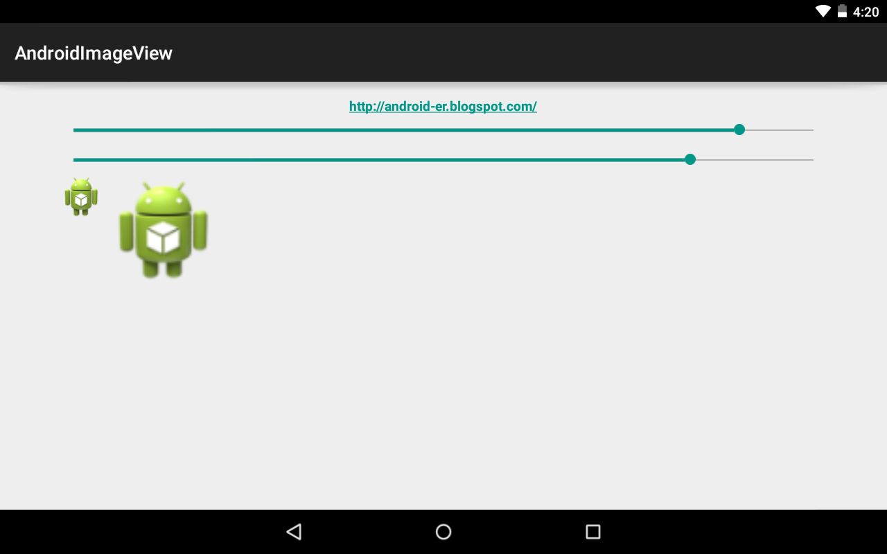 Android-er: Scale bitmap using Matrix