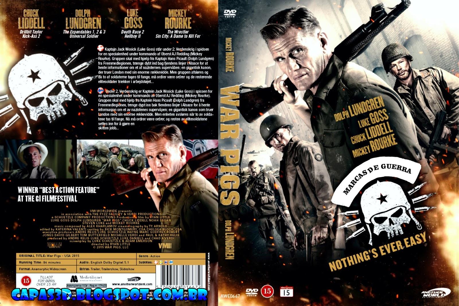 Filme Marcas Da Guerra pertaining to marcas da guerra - war pigs (2016) capa dvd - giga in filmes