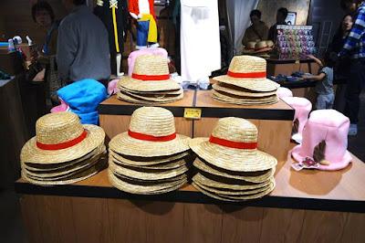 Straw hats at One Piece Mugiwara Store Tokyo Tower Japan