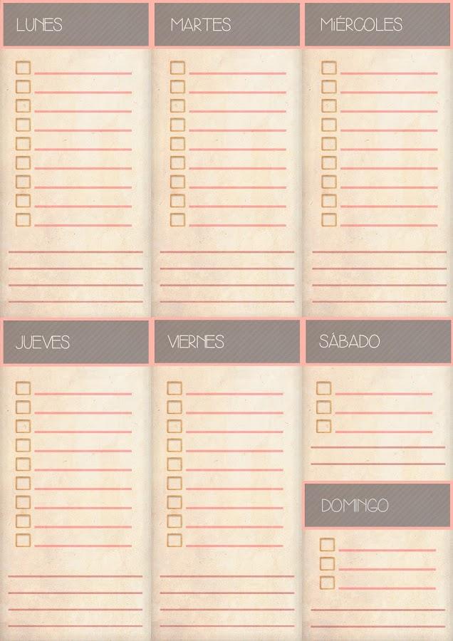 Planificadores semanales imprimibles gratis y más recursos para organización