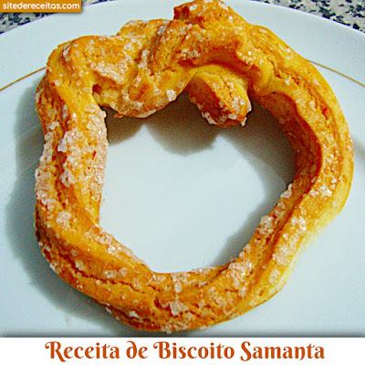 Receita de biscoito Samanta