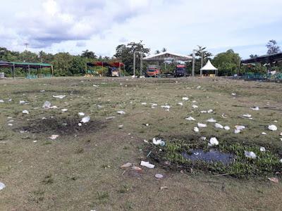 Warga Soroti Sampah Pasca Jalan Sehat Arinal-Nunik di Pesisir Barat