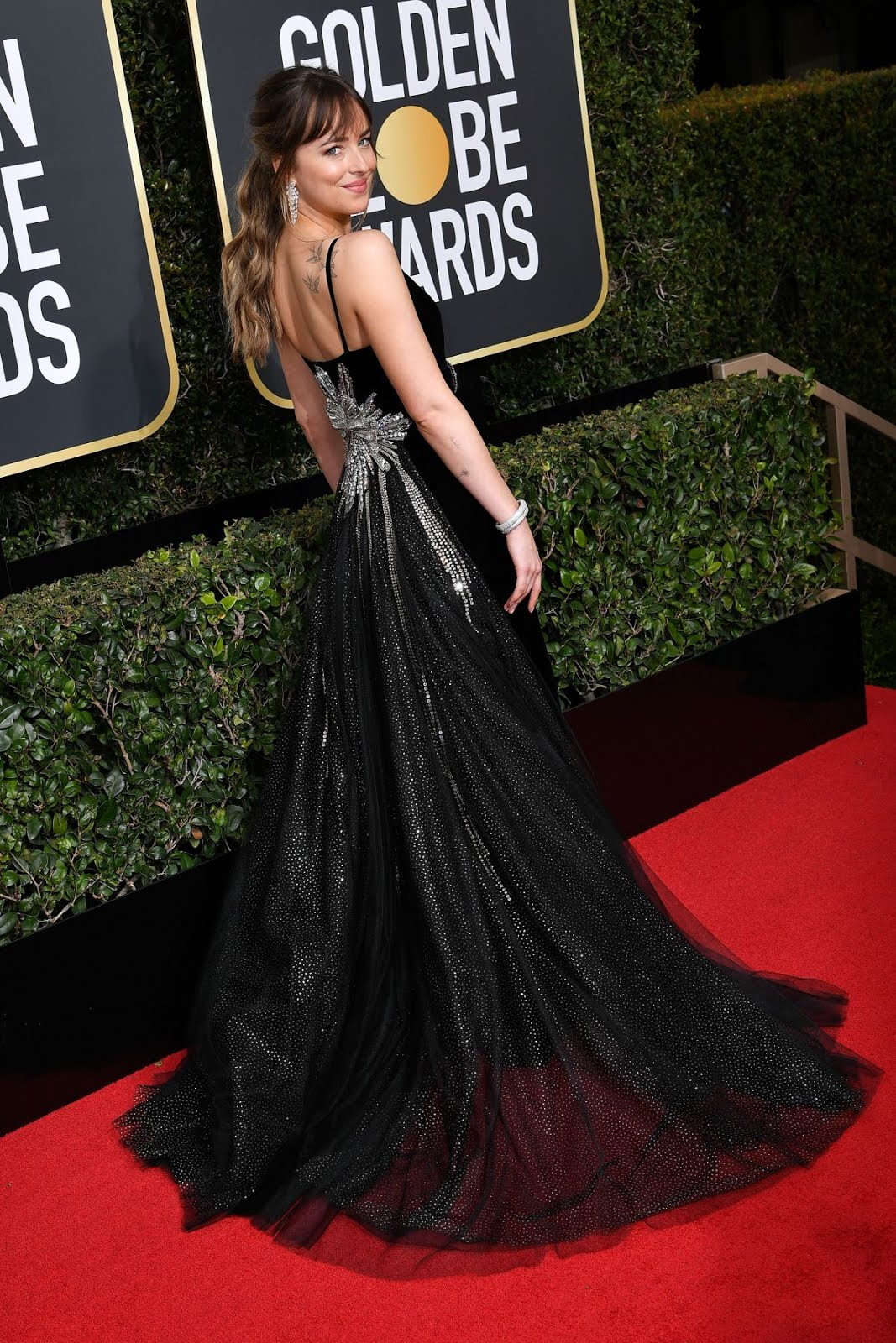 HD Photos of Sexy Dakota Johnson At 75th Annual Golden Globe Awards In Beverly Hills