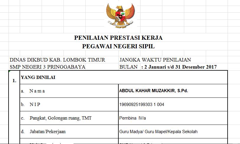 Materi Sosialisasi Skp Dan Ppk Pns Oleh Bkd Lombok Timur Mkks Smp Lombok Timur
