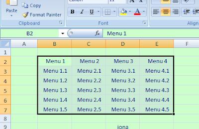 Buat Tabel Di Excel