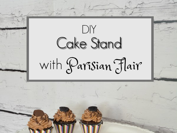DIY Cake Stand with Parisian Flair