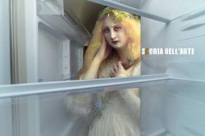 Fotomontaggi di opere d'arte-Donna affamata-Scoria dell'Arte