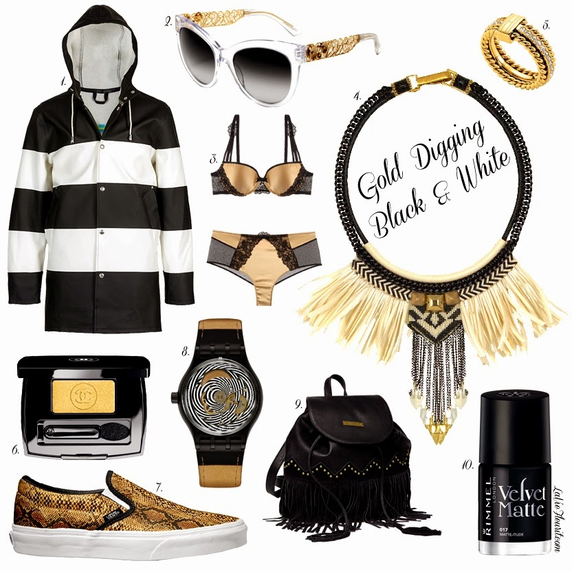 Moodboard, Black, White, Gold, Beauty, Fashion, MakeUp, Winter, Accessories, Fashionblogger, Mode, Modeblogger, Beautyblogger, Bblogger, Blog, LaVieFleurit.com, Chanel, Stutterheim, Rimmel, Tommy Hilfiger, Invito, Vans, Swatch, D&G, Dolce & Gabbana, Chantelle, Fiona Paxton