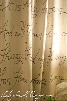 No Sew Script Drop Cloth Curtainsdiy Show Off Diy