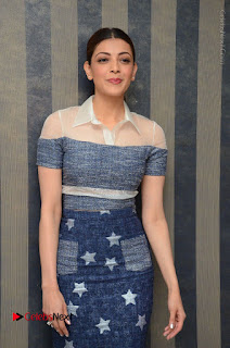Actress Kajal Agarwal Latest Stills at Khaidi No 150 Movie Interview  0088.JPG
