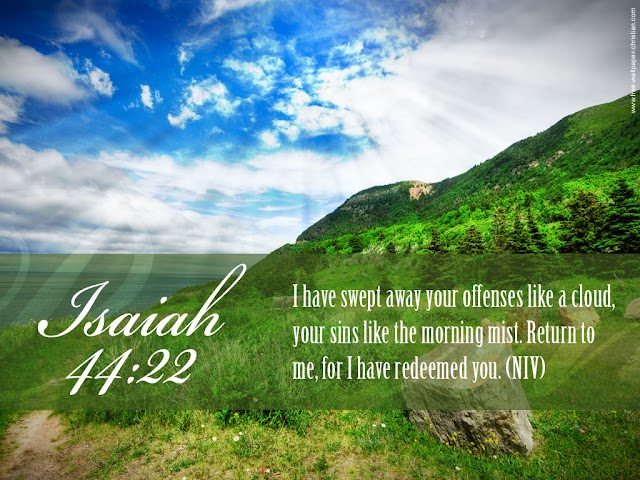 Isaiah 44 : 22 Bible Verse Desktop Wallpaper