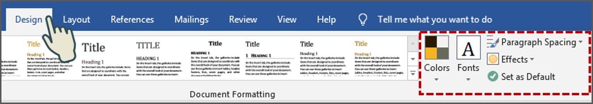 Cara Mengubah Warna Tema, Font, Jarak Paragraf atau efek - Word 2019