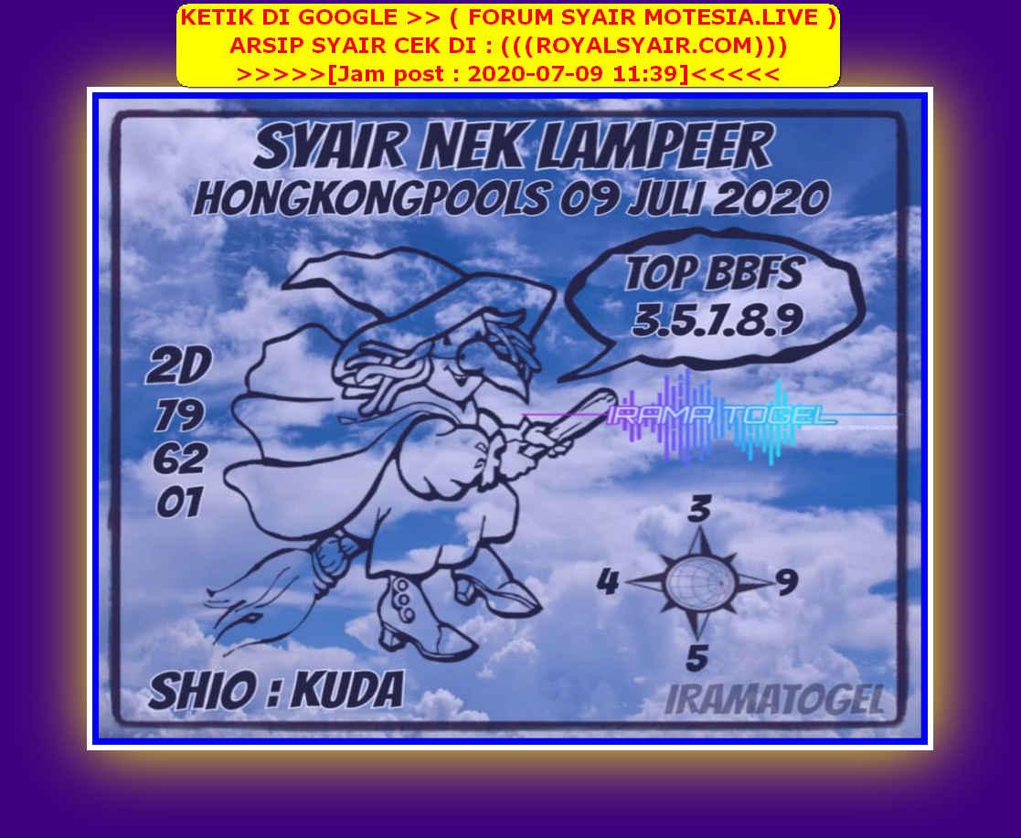 Kode syair Hongkong Kamis 9 Juli 2020 266