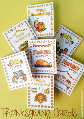 Thanksgiving Cards for Teachers
