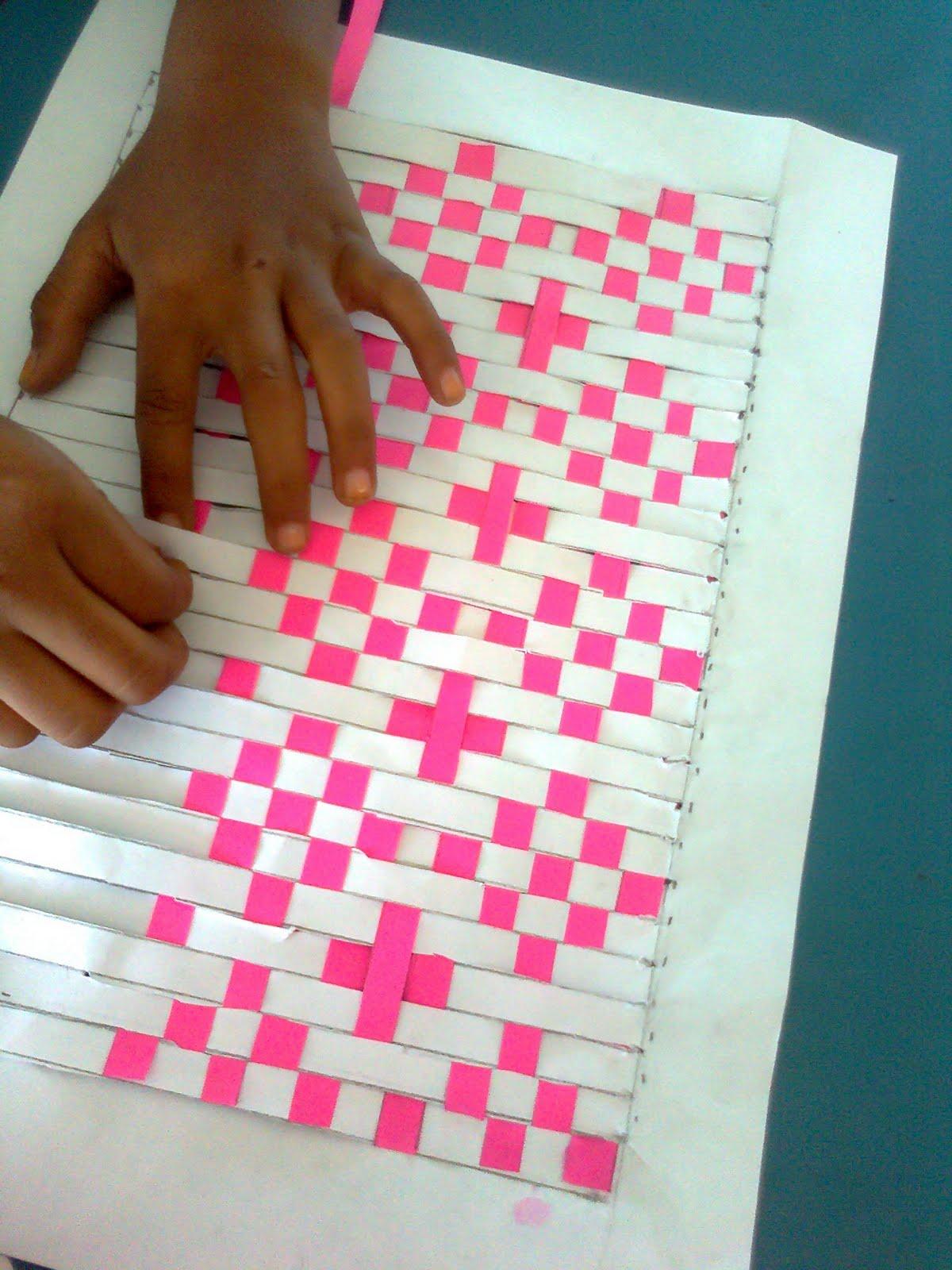 Blog Seni Visual: Anyaman Tikar (Kertas)