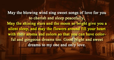 good night may the blowing wind sing sweet songs of love for you