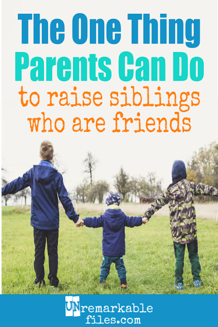 It's sad to see how so many books and movies out there normalize sibling fighting, because siblings can be natural best friends! Parents play a huge role in how siblings get along, and here is one simple tip for raising siblings who love each other. #siblings #familygoals