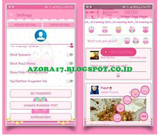 BBM Mod Owl Pink Tema Burung Hantu v3.2.0.6 Apk Terbaru