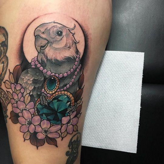 Beautiful Thigh Tattoo For Girls