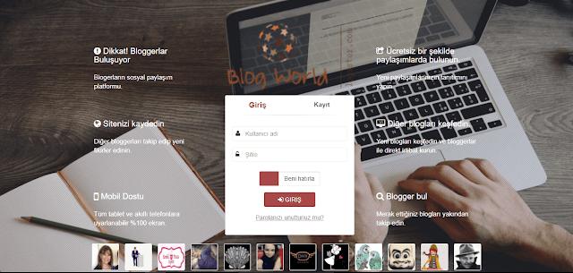 Blog yazarlarının sosyal paylaşım platformu.