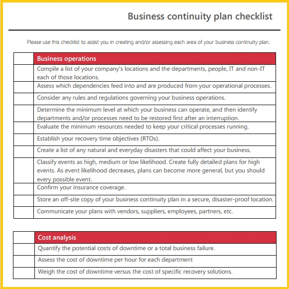resume business template business continuity plan template