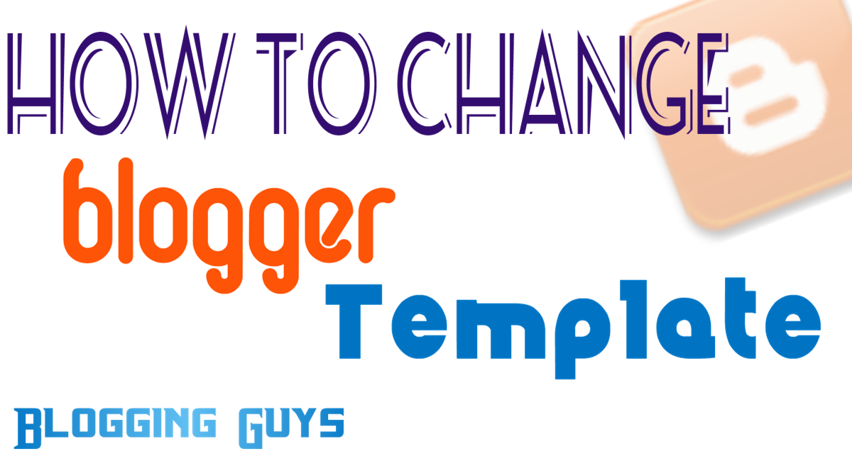 change your blog template
