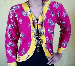 Baju Kerja Wanita Blazer Batik Modis