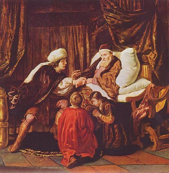 יעקב מברך את אפרים ומשנה - יאן ויקטוראס - 1650 - מוזיאון בודאפשט