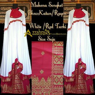 CORAK Mukena Songket Prada Bali Paling Anyar  Red Turki