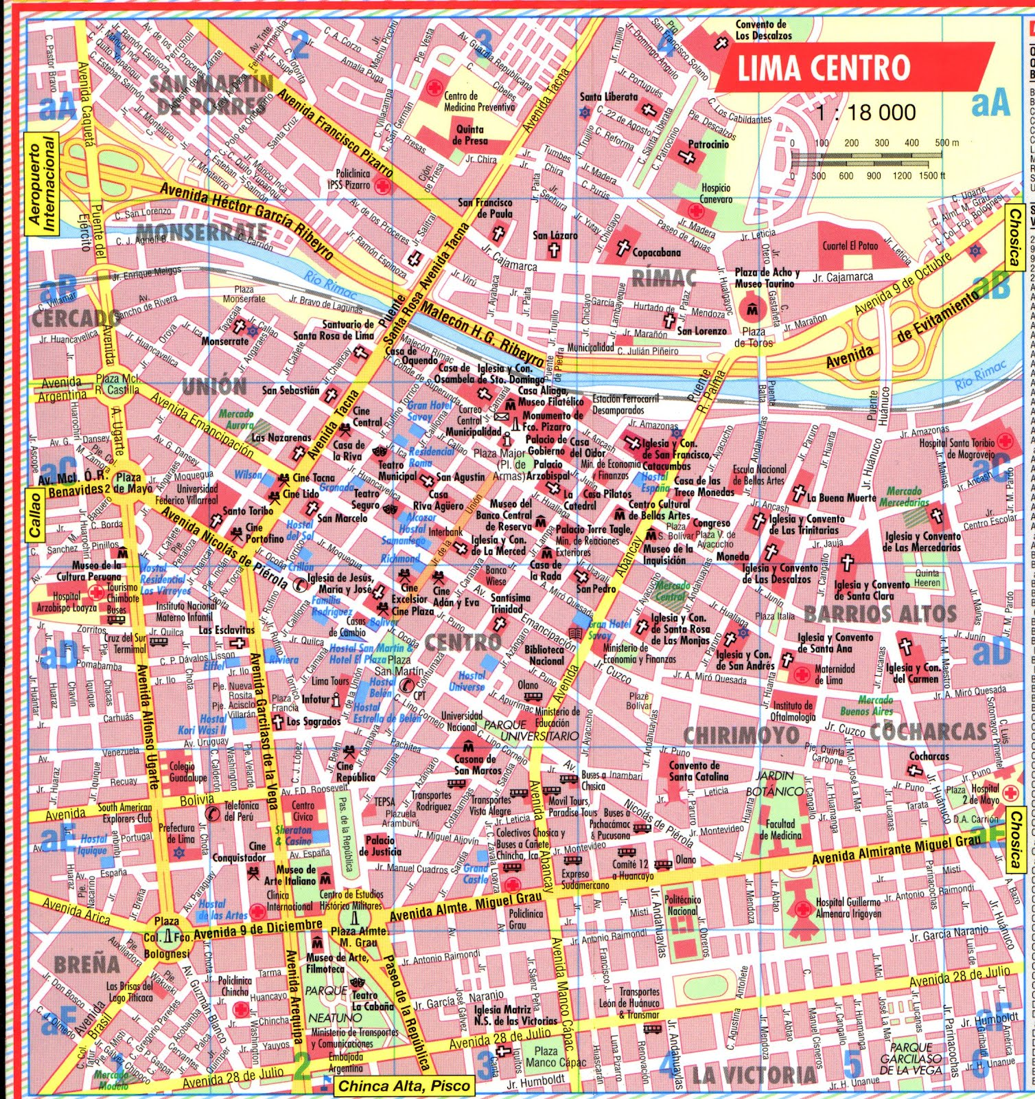 photo regarding Printable Map of Peru named Map of Lima Peru - Free of charge Printable Maps