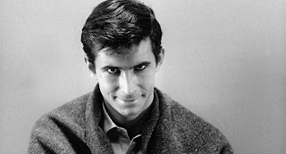 Anthony Perkins as Norman Bates at the end of Psycho