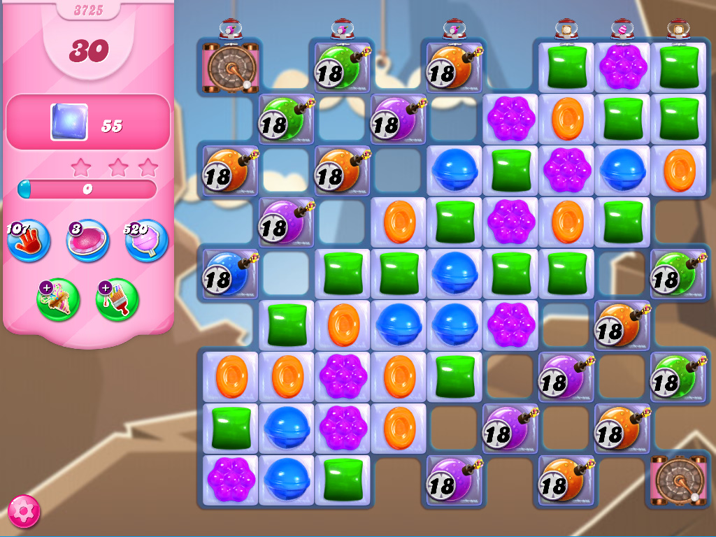 Candy Crush Saga level 3725