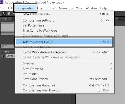 Cara Mengaktifkan Output Module Format H.264 di After Effects CS 6
