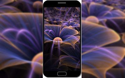Fleurs Art Digital Fractal - Fond d'Écran en QHD pour Mobile