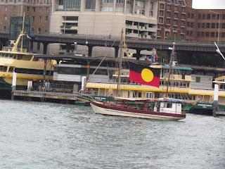 Aboriginal boat on Australia Day