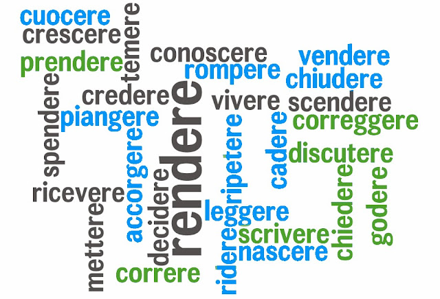 Italian -ERE verbs, all regular in present tense by ab for viaoptimae.com