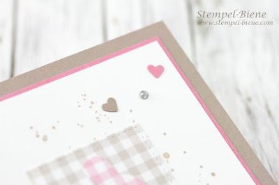 Osterkarte stampinup; Hasenstanze; Stempelparty stampinup; Stempel-biene