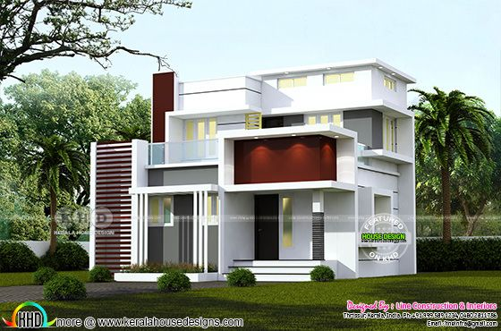 4 BHK 1244 square feet modern home design