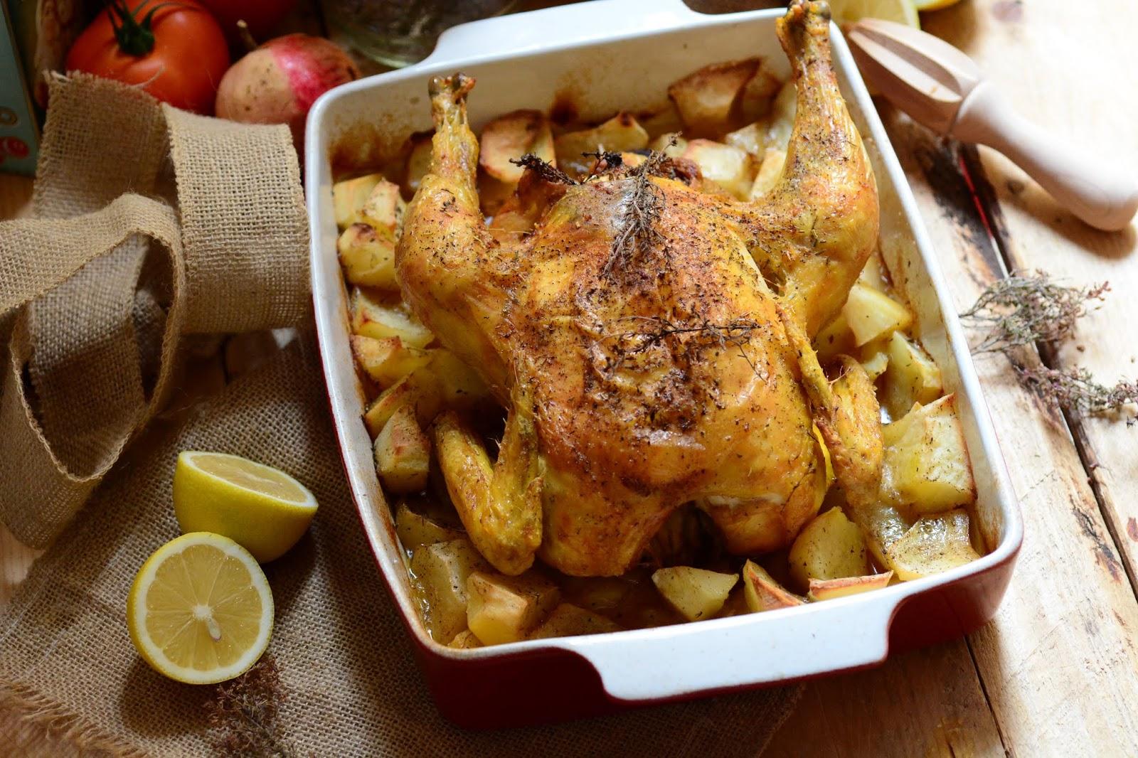 Pollo Campero Al Horno Receta De La Abuela Cuchillito Y Tenedor