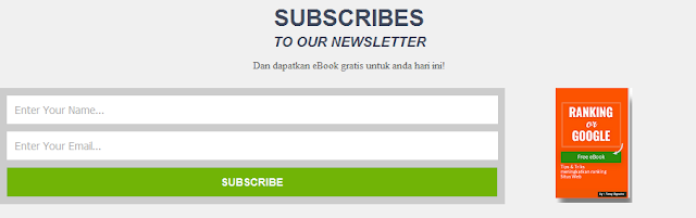 Responsive Subscribe Box style 2