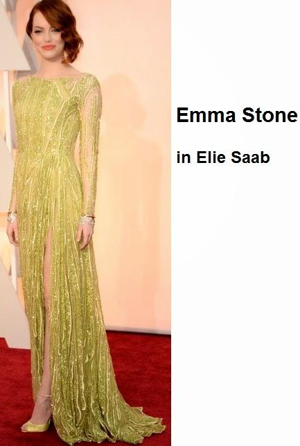 Emma%2BStone%2Bin%2BElie%2BSaab - Look Óscares 2015