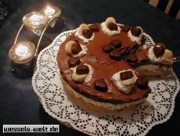 wessels k chenwelt bananen milka herzen torte. Black Bedroom Furniture Sets. Home Design Ideas