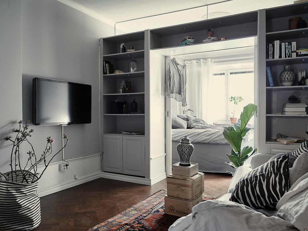 d couvrir l 39 endroit du d cor petit appartement en longueur. Black Bedroom Furniture Sets. Home Design Ideas