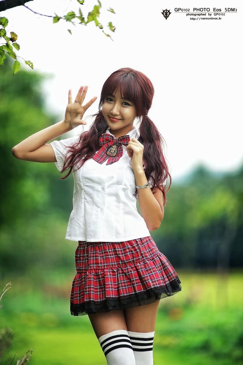 Young asian schoolgirl