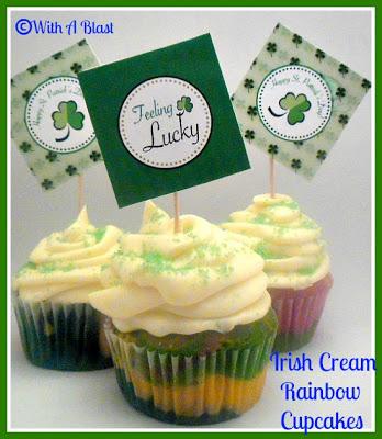 Pams Party  Practical Tips Irish Cream Rainbow Cupcake - Feature